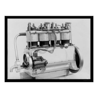 Wright Brothers Airplane Engine 1911 Poster