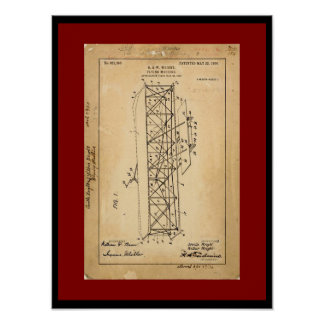 Wright Brothers Flying Machine Patent Copy Poster