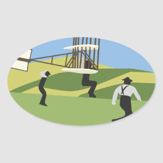 Wright Brothers Oval Sticker