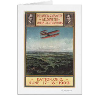 Wright Brothers Plane Card