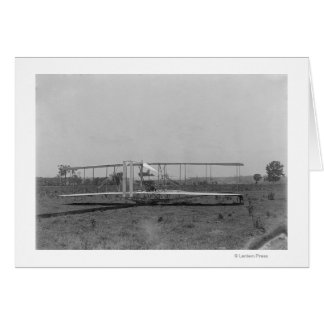 Wright Brothers Plane Close-up View Card