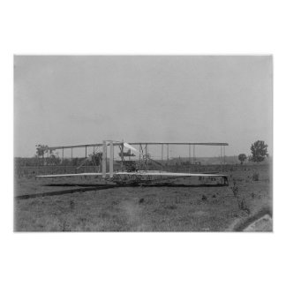 Wright Brothers Plane Close-up View Poster