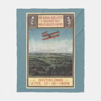 Wright Brothers Plane Fleece Blanket