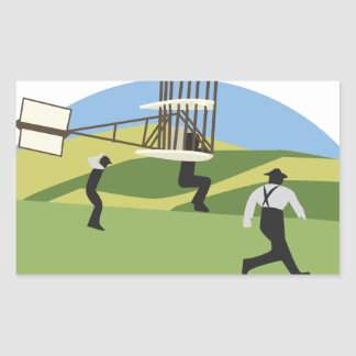 Wright Brothers Rectangular Sticker