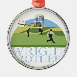 Wright Brothers Silver-Colored Round Decoration