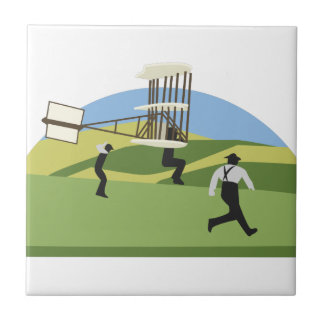 Wright Brothers Small Square Tile