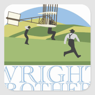 Wright Brothers Square Sticker