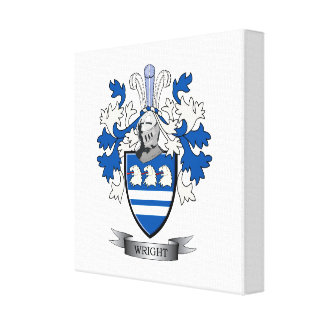 Wright Coat of Arms Gallery Wrap Canvas