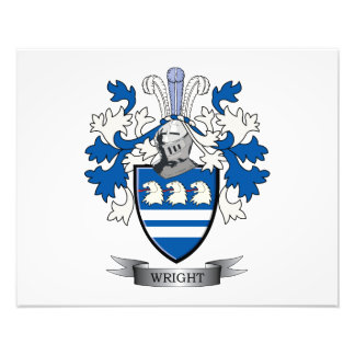 Wright Coat of Arms Photo Print