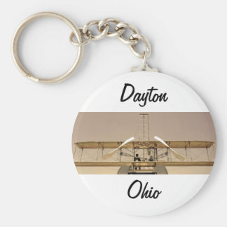 Wright Flyer Aircraft Basic Round Button Key Ring