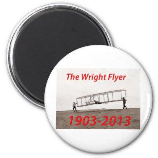 Wright Flyer Anniversary (1903-2013) 6 Cm Round Magnet