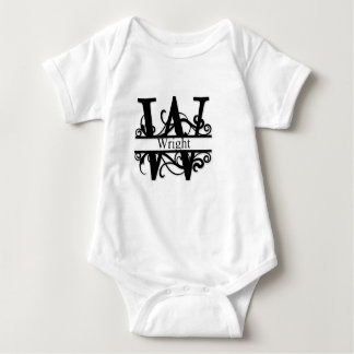 Wright Monogram Baby Bodysuit
