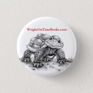 Wright on Time Books Turtle 3 Cm Round Badge
