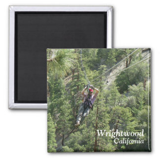 Wrightwood Ziplining Magnet! Square Magnet