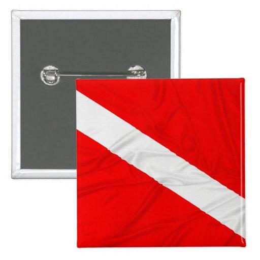 Wrinkled Diver Down Flag Pins