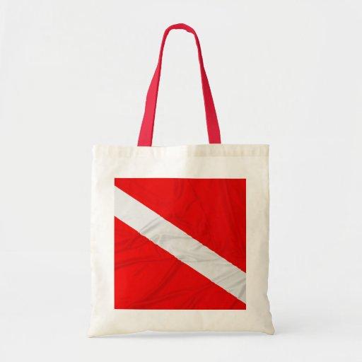 Wrinkled Diver Down Flag Canvas Bag