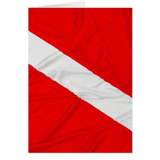 Wrinkled Diver Down Flag Card