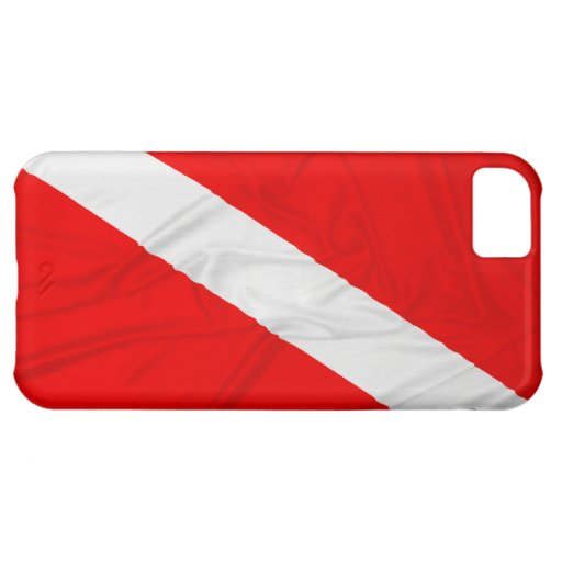 Wrinkled Diver Down Flag iPhone 5C Cases