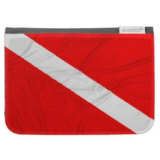 Wrinkled Diver Down Flag Kindle 3 Case