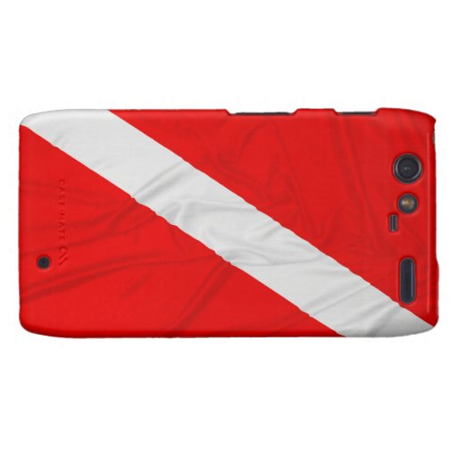 Wrinkled Diver Down Flag Droid RAZR Covers
