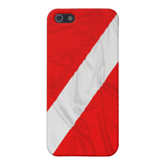 Wrinkled Diver Down Flag Cover For iPhone 5/5S