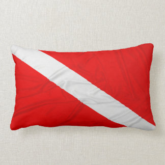 Wrinkled Diver Down Flag Throw Pillow