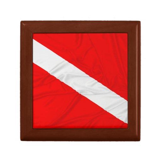 Wrinkled Diver Down Flag Keepsake Box