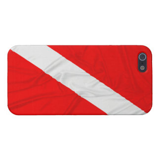 Wrinkled Diver Down Flag iPhone 5 Cases