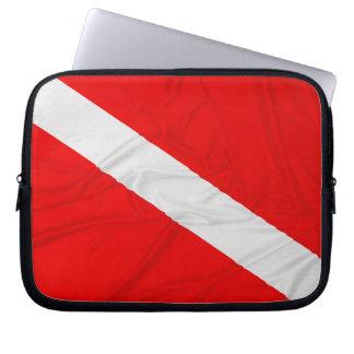 Wrinkled Diver Down Flag Computer Sleeves