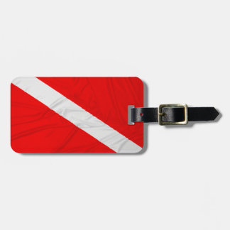 Wrinkled Diver Down Flag Luggage Tag