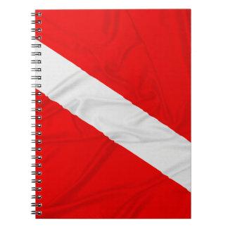 Wrinkled Diver Down Flag Spiral Note Book