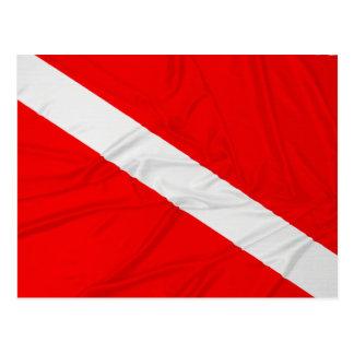 Wrinkled Diver Down Flag Postcard