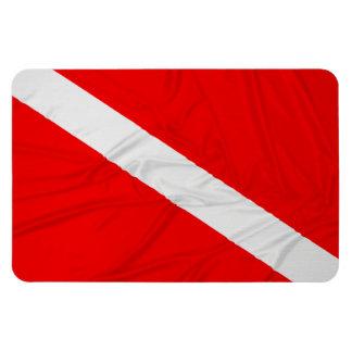 Wrinkled Diver Down Flag Flexible Magnets
