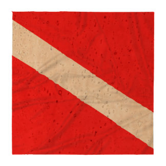 Wrinkled Diver Down Flag Coasters