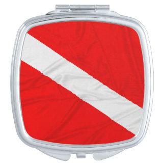 Wrinkled Diver Down Flag Vanity Mirror
