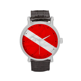 Wrinkled Diver Down Flag Watches