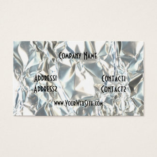 Wrinkled Foil Fun Business Card