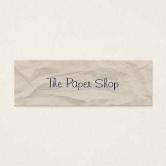 Wrinkled Paper Handwriting Skinny Business Card