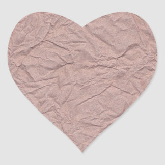 Wrinkled Paper Texture Heart Sticker