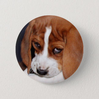 Wrinkled Puppy 6 Cm Round Badge