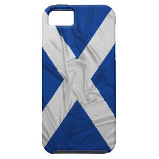 Wrinkled Scotland Flag Tough iPhone 5 Case