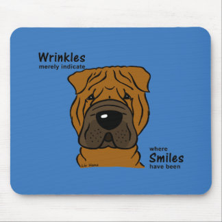 Wrinkles merely indicate smiles mouse pad