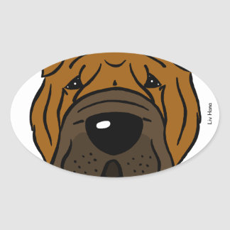 Wrinkles merely indicate smiles oval sticker