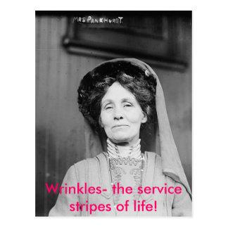 Wrinkles- the service stripes of life! postcard