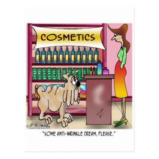 Wrinkly Dog Oil Postcard
