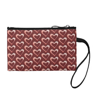 Wrist-let with heart pattern coin purse