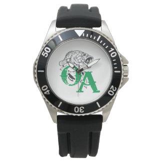 Wrist Watch Stainless Steel Black Rubber