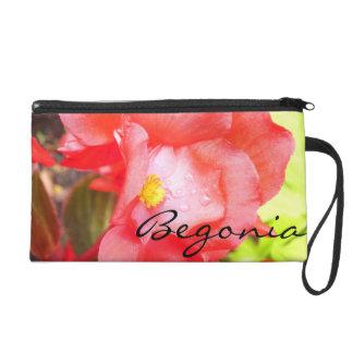 "Wristlet - Mini-Purse - Red ""Begonia"""