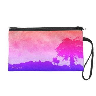 """Wristlet - Pink""""Desert Sunset Gold"""" by All Joy Art"""
