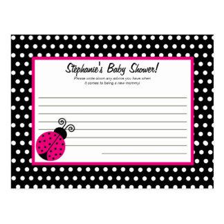 Writable Advice Card Black Spring Time Lady Bug